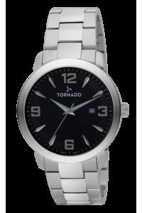 Tornado Men's Watch Analog Display-T9006-SBSB, black, silver