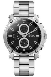 Men's Super Metal Band Watch - LC06529, black, silver, silver