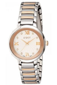 Ecstacy Women's Stainless Steel Band Watch E8503-KBKS, two tone rose gold, rose gold, silver
