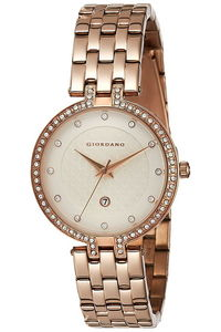 Giordano Women's's Watch Analog Display-2770-33, gold, champagne