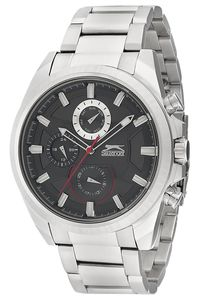 Men's Stainless Steel Band Watch - SL. 9.6030, black, silver, silver