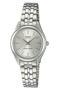 Women's Stainless Steel Band Watch - LTP-1129, silver, silver, silver