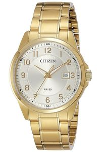 Men's Stainless Steel Band Watch - BI5042, silver, gold, gold