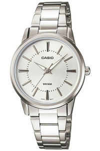 Women's Stainless Steel Band Watch - LTP-1303, silver, silver, silver
