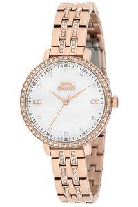 Women's Stainless Steel Band Watch - SL. 9.6078, rose gold, white, rose gold