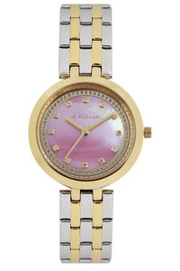 Giordano Women's's Watch Analog Display- 2821-44, tt gold, mop pink