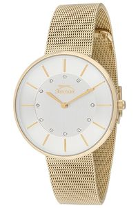 Women's Stainless Steel Band Watch - SL. 9.6037, silver, gold, gold