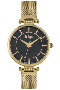 Women's Super Metal Band Watch - LC06507, black, gold, gold