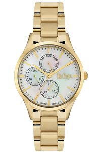 Women 's Super Metal Band Watch - LC06397, white, gold, gold