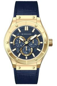 Giordano Men's Watch Multi Function Display- 1776-02, blue, blue