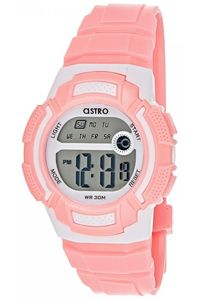 Astro Kids Pink Plastic Watch - A8900-PPPS, pink, pink/white, silver