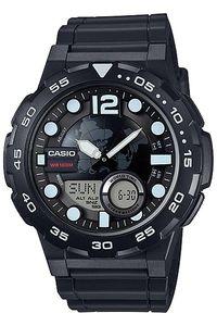 Men's Resin Band Watch - AEQ-100, black, black, black
