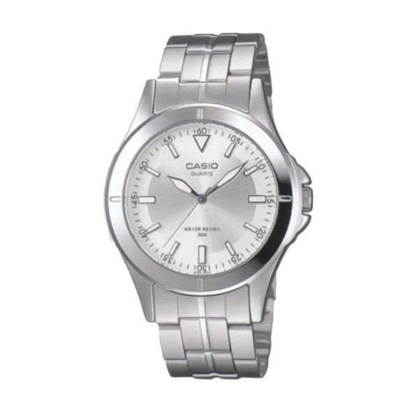 Men s Stainless Steel Band Watch - MTP-1214