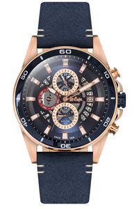 Men's Resin Band Watch - LC06306, rose gold, blue, blue