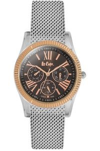 Women's Super Metal Band Watch - LC06319, silver, silver, black