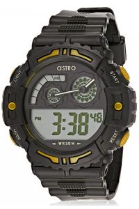 Kids Resin Band Watch - A8907, black, black, black/yellow