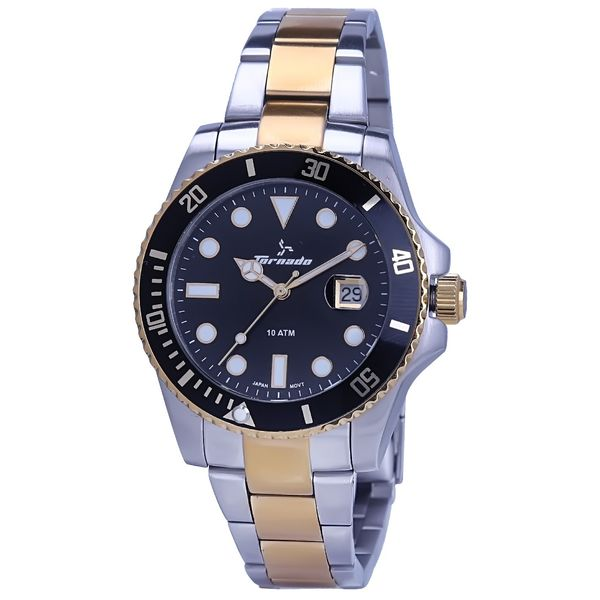 Men s Solid Stainless Steel Band Watch- T7005
