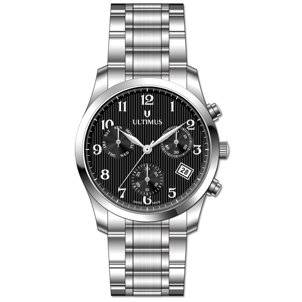 Men s Stainless Steel Band Watch- U7101