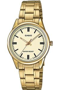 Women's Stainless Steel Band Watch - LTP-V005, gold, gold, champagne