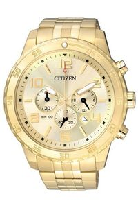 Men's Stainless Steel Band Watch - AN8133, gold, gold, champagne