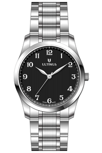 Men's Stainless Steel Band Watch- U7502, black, silver, silver