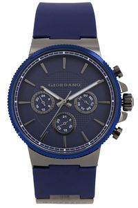 Giordano Men's Watch Multi Function Display- 1825-04, blue, blue