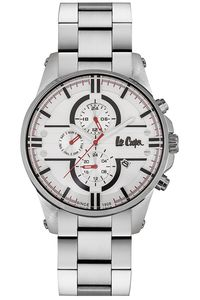 Men's Super Metal Band Watch -LC06535, white, silver, silver