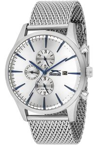 Men's Stainless Steel Band Watch - SL. 9.6002, silver, silver, silver