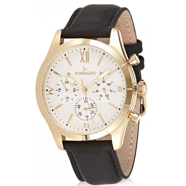 Men s Genuine Leather Band Watch- T8105