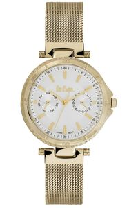 Women's Super Metal Band Watch -LC06599, silver, gold, gold