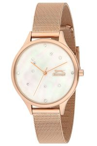 Women's Stainless Steel Band Watch - SL. 9.6055, mop white, rose gold, rose gold