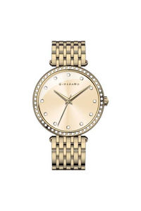 Giordano Women's's Watch Analog Display-2792-77, gold, champagne