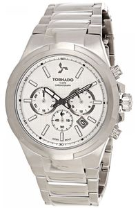 Men's Solid Stainless Steel Band Watch- T8102, silver, silver, silver