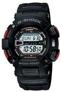 G-shock Men's Resin Band Watch G-9000-1V, grey, black, black
