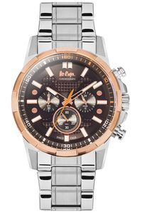 Men's Super Metal Band Watch - LC06359, silver, silver, brown