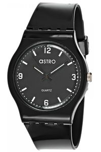 Astro Kids Black Plastic Watch - A8806-PPBB, black, black, black