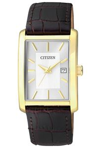 Men's Leather Band Watch - BH1673, white, gold, black