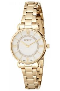 Women's Stainless Steel Band Watch -E8505, gold, silver, gold
