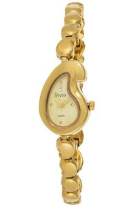 Women's Yellow Gold Plated Band Watch-S5513, yellow, gold, gold