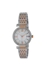 Giordano Women's Watch Analog Display- 2876-66, two tone rose gold, white