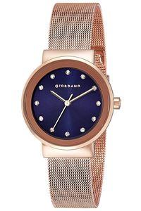 Giordano Women's's Watch Analog Display- 2832-44, rose gold, blue