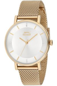 Women's Stainless Steel Band Watch - SL. 9.6061, silver, gold, gold