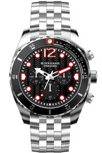 Men's Solid Stainless Steel Band Watch -P-1022, silver, black, silver