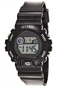 Astro Kids Black Plastic Watch - A8901-PPBS, black, silver, black