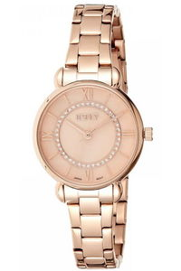Ecstacy Women's Stainless Steel Band Watch E8505-RBKK, rose gold, rose gold, rose gold