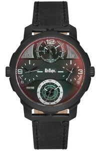Men's Leather Band Watch - LC06222, black, black, black