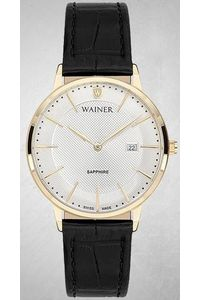 Women's Genuine Leather Band Watch -WA11433, black, gold, white