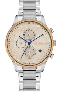 Men's Super Metal Band Watch -LC06418, champagne, silver, silver