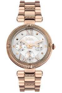 Women's Super Metal Band Watch - LC06512, rose gold, rose gold, silver