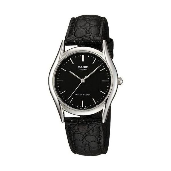 Men s Leather Band Watch - MTP-1094